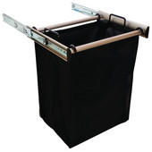 ''Synergy'' Collection 1-Bag Extendable Hamper, w/ 1 Large Bag, in Matt Nickel, 18''W x 14''D x 21-1/2''H