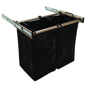 ''Synergy'' Collection 2-Bag Extendable Hamper, w/ 2 Small Bags, in Matt Nickel, 24'' W x 14'' D x 21-1/2''H