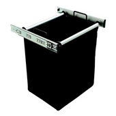''Synergy'' Collection 1-Bag Extendable Hamper, w/ 1 Large Bag, in Matt Aluminum , 18'' W x 14'' D x 20-7/8'' H