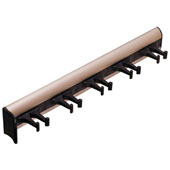 ''Synergy'' Collection Telescopic Belt Rack with 5 Hooks, 11-15/16'' Long, Matt Nickel w/ Black Hooks