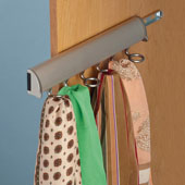 ''Synergy Elite'' Collection Telescopic Scarf Rack for Wardrobe or Closet, Matt Nickel, Different Lengths Available