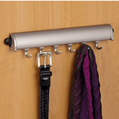 ''Synergy Elite'' Collection Fixed Wardrobe Accessory Hooks, Matt Nickel, Available in Different Lengths