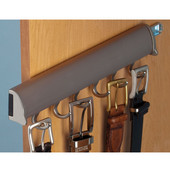 ''Synergy Elite'' Collection Telescopic Belt Rack, Matt Nickel, for Side or Door of Wardrobe, Different Lengths Available