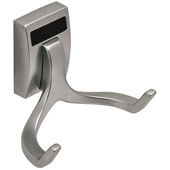 ''Synergy Elite'' Collection Double Hook, Matt Aluminum, Available in Multiple Finishes