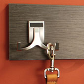 ''Synergy Elite'' Collection Double Hook, Matt Nickel, Available in Multiple Finishes