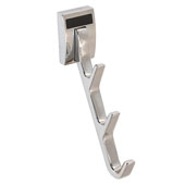 ''Synergy Elite'' Collection Cleat Mount Waterfall Hook, Polished Chrome, 1/2''W x 3-3/4''D x 6-1/2''H