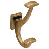 ''Synergy Elite'' Collection Coat Hook, Matt Gold, 2 Sizes Available