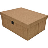 Engage Storage Box, Beach Fabric, 17-1/2''W x 13-1/2''D x 7-3/8''H