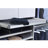 Engage Pull-Out Shelf, Matt Nickel Frame with Slate Fabric, 36''