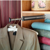 ''Synergy'' Collection Closet Valet Rod, Matt Nickel, Available in Various Sizes