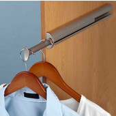 ''Synergy Elite'' Collection Valet Rod for Closet or Wardrobe, Matt Nickel, 14-1/8''