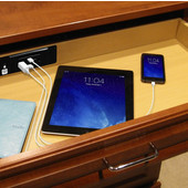 Docking Drawer, Blade Charging Outlet, with 2 Electrical Outlets, 2 USB Charging Ports, and 4-1/2 ft. Power Cord, Black