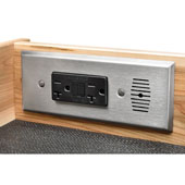 Docking Drawer, Style 24 Flush, with 2 AC 20 Amp Outlets, with Thermostat Shut-Off, For 24'' Cabinet Depth, Stainless Steel