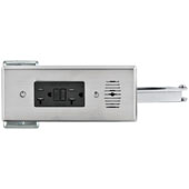 Docking Drawer, Style 21 Blade Powering Outlet, with 2 AC 20 Amp GFCI Outlets, For 21'' Cabinet Depth, Stainless Steel