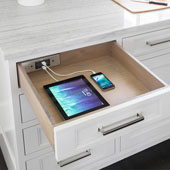 Docking Drawer, Blade Charging Outlet, with 2 Electrical Outlets, 2 USB Charging Ports, and 4-1/2 ft. Power Cord, Stainless Steel