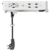 Docking Drawer, Style Blade Duo Charging Outlet, with 2 AC Outlets and 6 USB Ports, For 24'' Cabinet Depth, White
