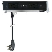 Docking Drawer, Style Blade Duo Charging Outlet, with 4 AC Outlets and 4 USB Ports, For 24'' Cabinet Depth, Black