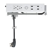 Blade Duo Series Model 1514-232, Docking Drawer (2) AC (15 AMP @ 120VAC), (2) USB-C (PD) Port (3.6 AMP @ 9VDC), and (4) USB-A Port (4.2 AMP @ 5VDC) Outlets in White