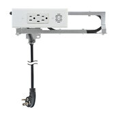 Blade Series Model 1514-130, Docking Drawer (2) AC (15AMP @120VAC) and (2) USB-C Port (Power Delivery) Outlet in White