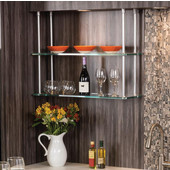 Häfele Shelf Suspension System, Chrome Polished or Matte, 1 rod
