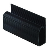 Cable Trunking Extrusion, Single J, with Self Adhesive Tape, Plastic, Black, 96'' (8 ft) Length