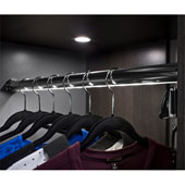 ''Synergy Elite'' Wardrobe Tube Rail Kit with Loox LED 2037 Flexible Strip Light, Warm White 3000K, Matt Gold, 30'' Length
