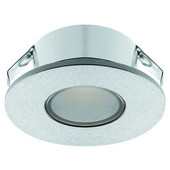 LOOX 12V #2022 Recess Mounted Round LED Mini Puck Light with 3 LEDs, Warm White 3000K, 35mm (1-3/8'') Length, Chrome-Plated