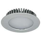 LOOX 12V #2020 Recess Mounted Round Downlight with 6 LEDs, Warm White 3000K, 55mm (2-3/16'') Dia., Polished Chrome, IP44