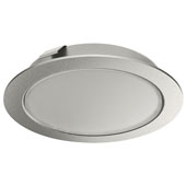 LOOX LED 2047 12V Recess/Surface Mount Puck Light, 3000 Warm White, Silver, 2-9/16'' Diameter