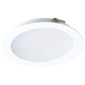 LOOX LED 2047 12V Recess/Surface Mount Puck Light, 3000 Warm White, White Matt, 2-9/16'' Diameter