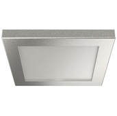 LOOX5 LED3081 Series RGB Surface Mount Light, 24 Volts, 0.7 Watts, Square, Plastic, Silver Colored, with 2 Meter (78-3/4'' Length) Lead, 2-9/16'' W x 2-9/16'' D x 1/4'' H