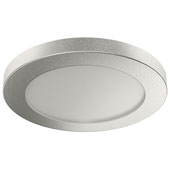 Round Surface Mount LOOX LED #3035 24V Puck Light, Warm White 3000 K, Silver