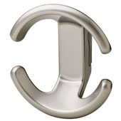 Lago di Como Collection Coat Hook in Matt Nickel, 102mm W x 50mm D x 110mm H