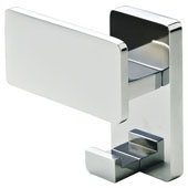 Lago di Como Collection Wardrobe Hook in Polished Chrome, 90mm W x 46mm D x 90mm H