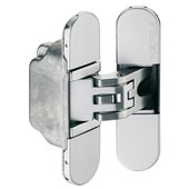 Startec H2 Concealed Door Hinge for Interior Wood Doors, Zinc, Satin Chrome