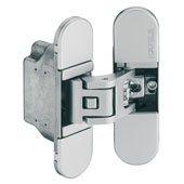 Startec 3D Adjustable Concealed Door Hinge, Zinc, Satin Chrome