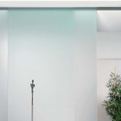 Porta 100 GW Fitting Set, Sliding Door Hardware, Top Hung System, for Glass Doors up to 220 lbs. each