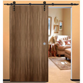 Antra I Sliding Door Hardware for Wood Doors Up to 220 lbs. each, with Solid Stainless Steel Track, Dark Bronze, 8' 4'' Length