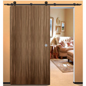 Antra II Sliding Door Hardware for Wood Doors Up to 220 lbs. each, with Solid Stainless Steel Track, Dark Bronze, 5' 10-7/8'' Length