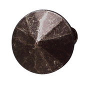 Cologne Collection Round Beveled Knob in Black Antique, 25mm Diameter x 23mm D x 10mm Base Diameter