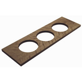 ''Fineline'' Large Container Holder, with 3 Holes, Walnut, 22''W x 7 1/16''D x 5/8''H