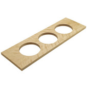 ''Fineline'' Large Container Holder, with 3 Holes, Birch, 22''W x 7 1/16''D x 5/8''H