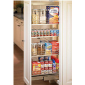 Dispensa Pantry Pull-Out, Full Extension Pantry Frame, Champagne Finish, Different Sizes Available
