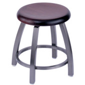 Holland Misha Swivel Bar Stool with Wooden Seat & Metal Frame, 25in