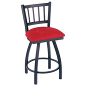 Holland Contessa Swivel Bar Stool with Upholstered Seat & Metal Frame, 25in