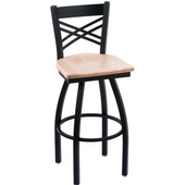 Holland Catalina Swivel Bar Stool with Wooden Seat & Metal Frame, 36in