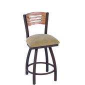 Holland Voltaire Swivel Bar Stool with Upholstered Seat & Metal Frame, 360 Swivel, Style C, 25'' - 36'' Heights Available