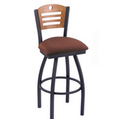 Holland Voltaire Swivel Bar Stool with Upholstered Seat & Metal Frame, 360 Swivel, Style D, 25'' - 36'' Heights Available
