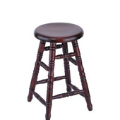 Holland Stoutmeister Commercial Oak Saddle Dish Seat Bar Stool, Different Finishes Available, 24''