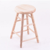 Holland Stoutmeister Commercial Maple Saddle Dish Seat Bar Stool, Different Finishes Available, 24''